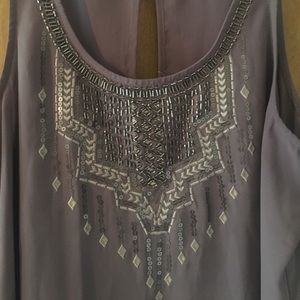 Maurices dressy tank  L embellished dusty purple